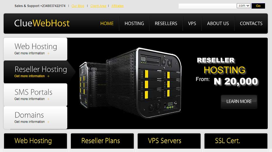 Clue Webhost Website